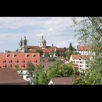 Weingarten, Basilika St. Martin - Große Orgel, Außenansicht von Westen