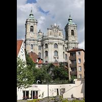 Weingarten, Basilika St. Martin - Große Orgel, Fassade mit Doppeltürmen, Ansicht von der Heinrich-Schatz-Straße