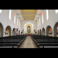Konstanz, St. Gebhard (Konzilsorgel), Innenraum in Richtung Chor