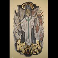 Konstanz, St. Gebhard (Konzilsorgel), Christus-Mosaik im Chorraum