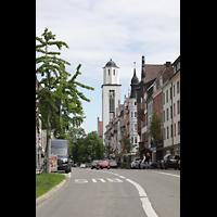 Konstanz, St. Gebhard (Konzilsorgel), Blick vom Sternenplatz zu St. Gebhard