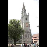 Konstanz, Münster unserer lieben Frau, Münster, seitliche Ansicht vom Münsterplatz