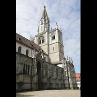 Konstanz, Münster unserer lieben Frau, Seitenschiff und Turm