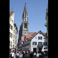 Konstanz, Münster unserer lieben Frau, Turm, Ansicht von der Wessenbergstraße