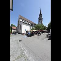 Konstanz, St. Stefan, Außenansicht vom Stephansplatz aus