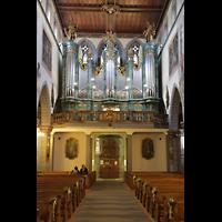 Konstanz, St. Stefan, Innenraum in Richtung Orgel