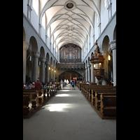 Konstanz, Münster unserer lieben Frau, Hauptschiff in Richtung Orgel