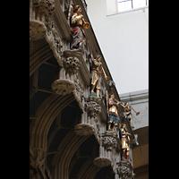 Konstanz, Münster unserer lieben Frau, Figurenschmuck unter der Orgelempore
