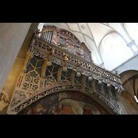 Konstanz, Münster unserer lieben Frau, Reich verzierter Träger der Orgelempore