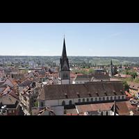 Konstanz, Münster unserer lieben Frau, Blick vom Münsterturm in Richtung Süden und St. Stefan