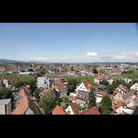 Konstanz, Münster unserer lieben Frau, Blick vom Münsterturm in Richtung Westen