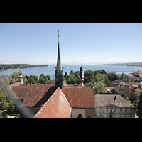 Konstanz, Münster unserer lieben Frau, Blick vom Münsterturm in Richtung Osten auf den Bodensee