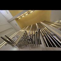 Konstanz, St. Gebhard (Konzilsorgel), Orgelprospekt mit horizontaler Seeflöte