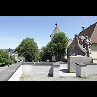 Reichenau - Mittelzell, Münster St. Maria und Markus, Außenansicht von der Burgstraße von Süden