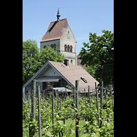Reichenau - Mittelzell, Münster St. Maria und Markus, Turm von Südwesten