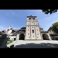 Reichenau - Mittelzell, Münster St. Maria und Markus, Westfasade mit Turm