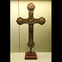 Reichenau - Mittelzell, Münster St. Maria und Markus, Vortragskreuz, z.T. aus dem 11. Jh. / spätgotisch
