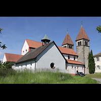 Reichenau - Niederzell, St. Peter und Paul, Seitenansicht von Südwesten