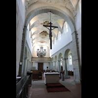 Reichenau - Niederzell, St. Peter und Paul, Blick vom Chor zur Orgel