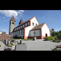 Reichenau - Niederzell, St. Peter und Paul, Außenansicht von Nordwesten
