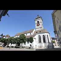 Schaffhausen, St. Johann, Seitenansicht von der Vordergasse