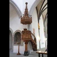 Schaffhausen, St. Johann, Geschnitzte Kanzel