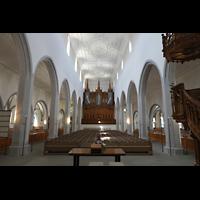 Schaffhausen, St. Johann, Hauptschiff in Richtung Orgel