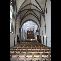 Schaffhausen, St. Johann, Blick vom Chor ins Hauptschiff zur Orgel