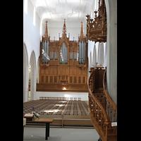 Schaffhausen, St. Johann, Orgel mit Kanzel