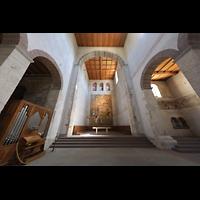 Schaffhausen, Münster (ehem. Kloster zu Allerheiligen), Chorraum mit Chororgel