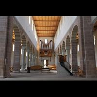 Schaffhausen, Münster (ehem. Kloster zu Allerheiligen), Hauptschiff in Richtung Orgel