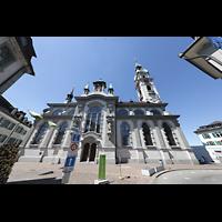 Frauenfeld, Kath. Stadtkirche St. Nikolaus, Seitenansicht
