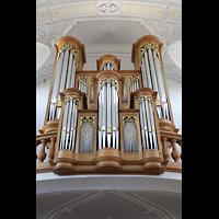 Frauenfeld, Kath. Stadtkirche St. Nikolaus, Orgel perspektivisch