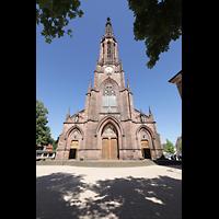 Bühl (Baden), Münster St. Peter und Paul (Chororgel), Fasssade mit Turm