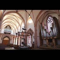 Bühl (Baden), Münster St. Peter und Paul (Chororgel), Blick vom Chorraum auf beide Orgeln
