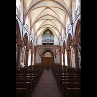 Bühl (Baden), Münster St. Peter und Paul (Chororgel), Innenraum in Richtung Emporenorgel
