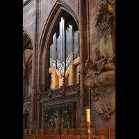 Freiburg, Münster unserer lieben Frau, Chororgel im südlichen Chorraum