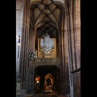 Freiburg, Münster unserer lieben Frau, Prospekt der Chororgel auf der ostseite