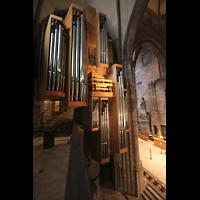 Freiburg, Münster unserer lieben Frau, Blick von der Seitenempore auf die Marienorgel