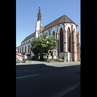 Basel, Predigerkirche (Schwalbennestorgel), Außenansicht