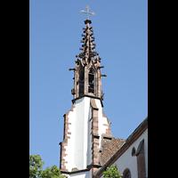 Basel, Predigerkirche (Schwalbennestorgel), Fiale auf dem kleinen Turm