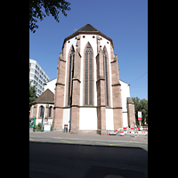 Basel, Predigerkirche (Schwalbennestorgel), Chor von außen
