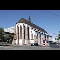 Basel, Predigerkirche (Schwalbennestorgel), Außenansicht seitlich