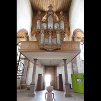 Basel, Predigerkirche (Schwalbennestorgel), Orgelempore