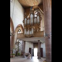 Basel, Predigerkirche (Schwalbennestorgel), Orgelempore seitlich