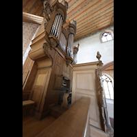 Basel, Predigerkirche (Truhenorgel), Silbermann-Metzler-Orgel seitlich
