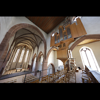 Basel, Predigerkirche (Truhenorgel), Chorraum mit Schwalbennestorgel