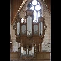 Basel, Predigerkirche (Schwalbennestorgel), Silbermann-Orgel vom Lettner aus gesehen