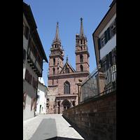 Basel, Münster, Außenansicht vom Münsterberg aus