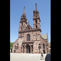 Basel, Münster, Münsterplatz mit Münster